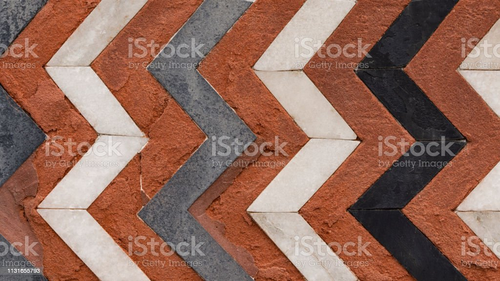 Abstract Natural Marble Pattern Color Zigzag Red White Blue Black Stock Photo Download Image Now Istock