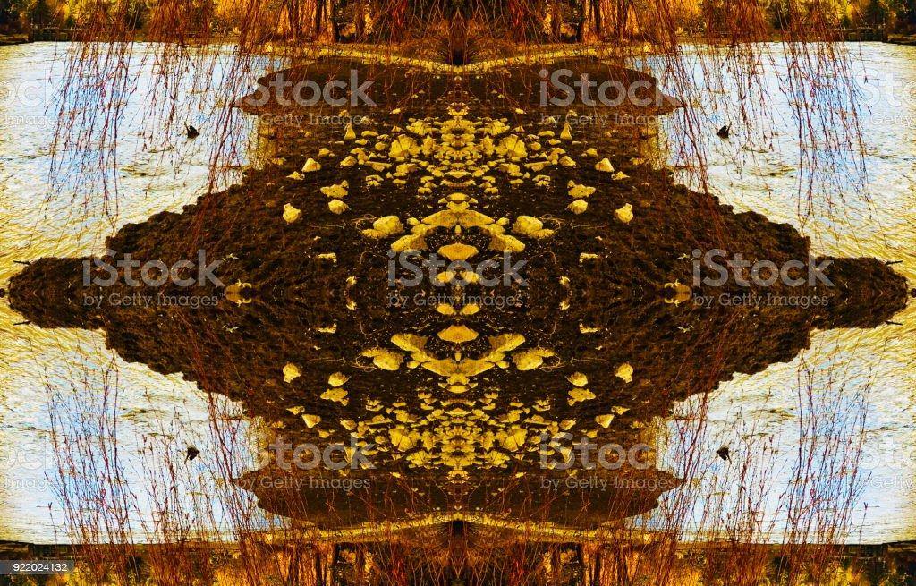 Abstrakte Natur-Boden-Kaleidoskop-Hintergrund – Foto