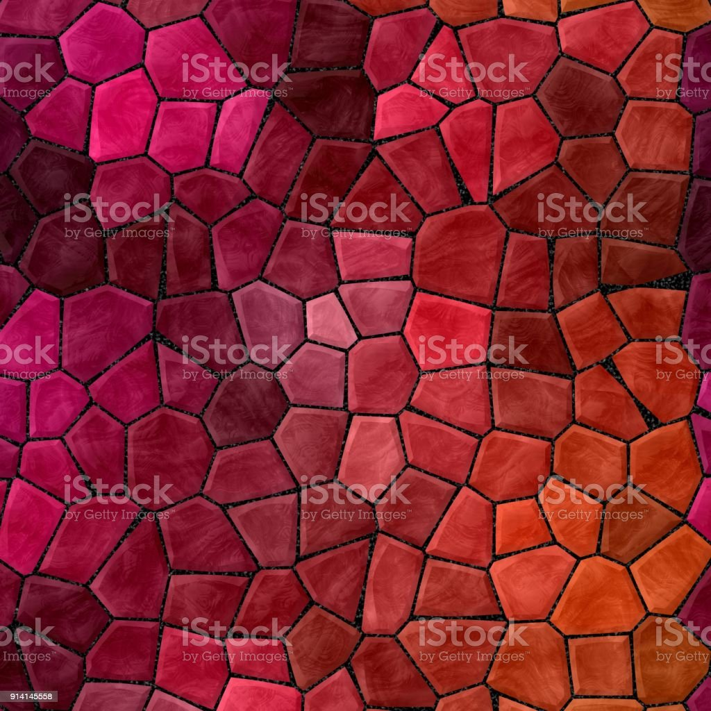 Abstract Nature Marble Plastic Stony Mosaic Tiles Texture Background Red Pink Purple Orange Colors Royalty
