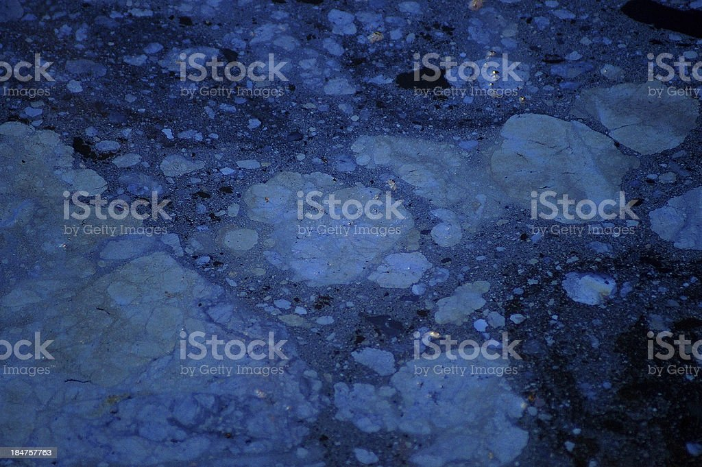 Abstract nature : Polluted water flowing royalty-free stock photo