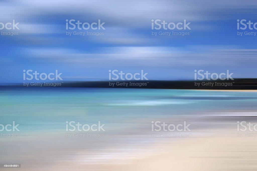 Abstract nature : seascape, steak effect, blur motion stock photo