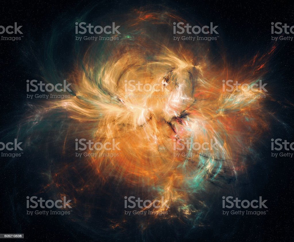 Abstract nebula background. stock photo