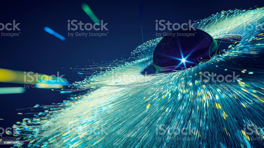 Abstract nebula particles background stock photo