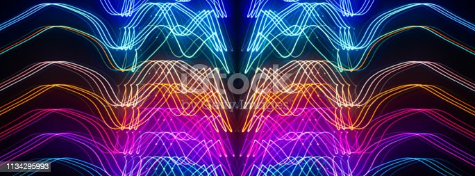 istock Abstract neon blurred background. 1134295993