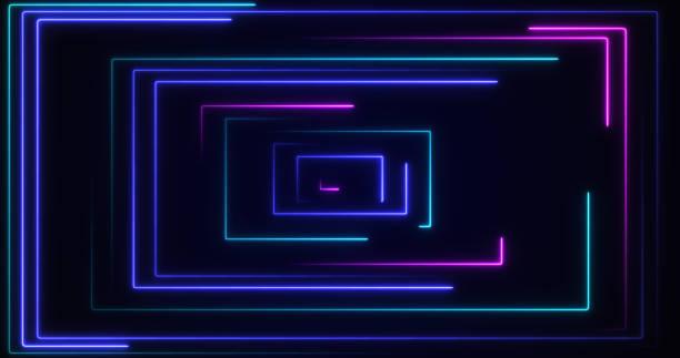 抽象霓虹燈背景 - 霓虹色 個照片及圖片檔