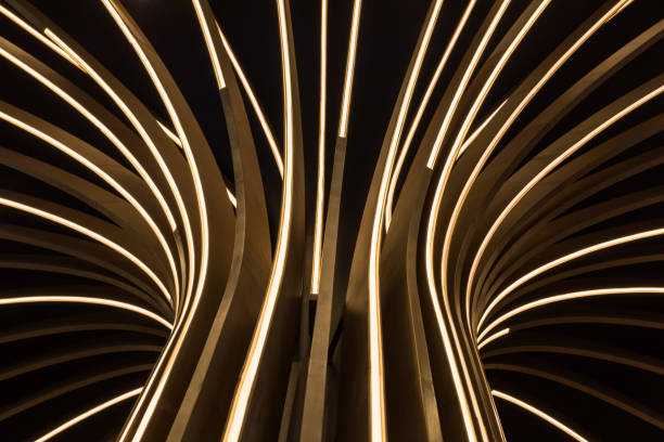 Abstract neon tree – zdjęcie