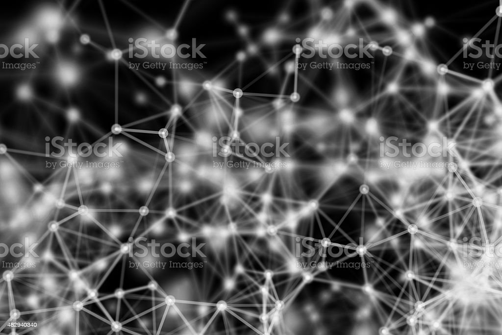 A large network of connected dots and lines