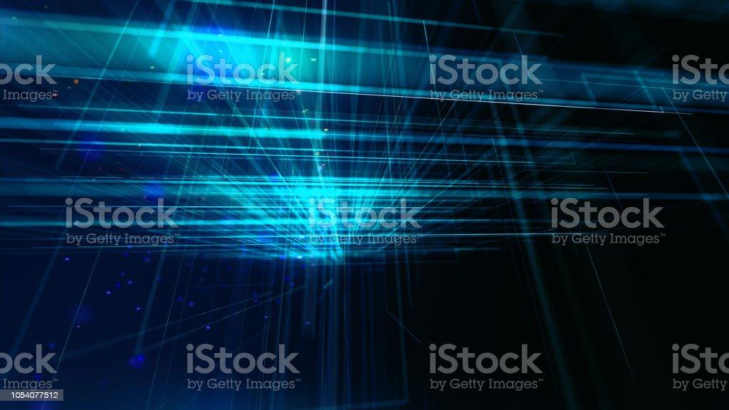 Rede abstrata, simulação de grande volume de dados, internet das coisas, representação fintech - foto de acervo