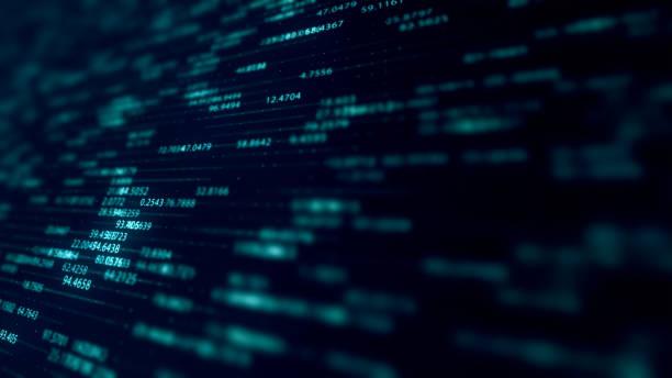 abstract network, big data simulation, internet of things, fintech representation - człowiek maszyna zdjęcia i obrazy z banku zdjęć