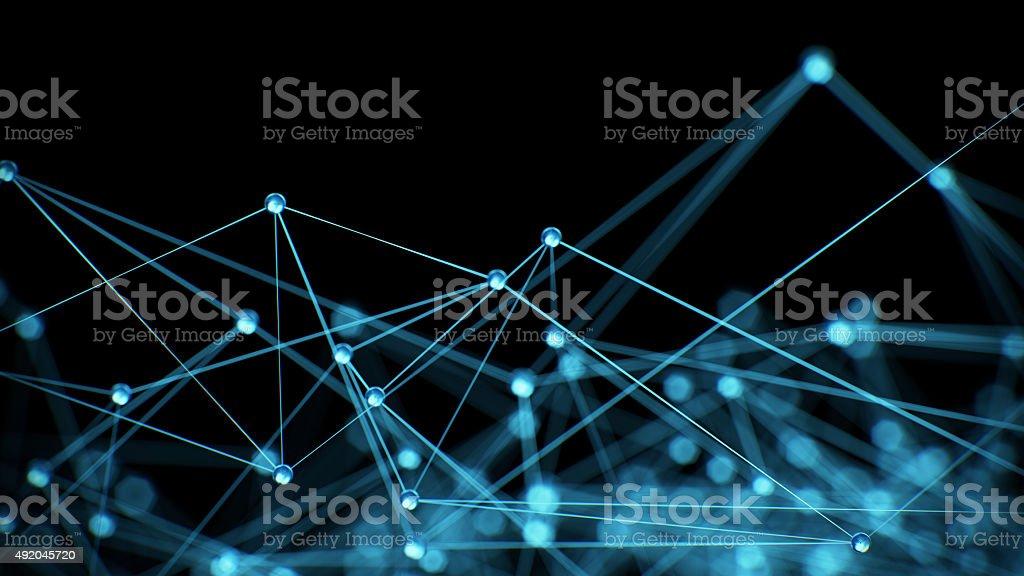 Abstrakte Netzwerk-Hintergrund - Lizenzfrei 2015 Stock-Foto