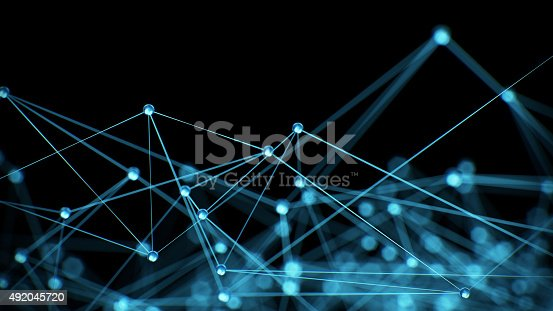 istock Abstract network connection background 492045720