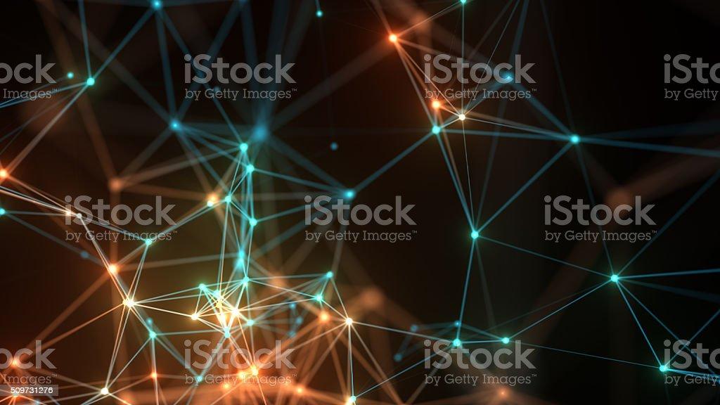 Astratto sfondo di connessione di rete. foto stock royalty-free