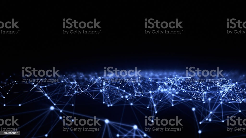 Abstract network connection background stock photo