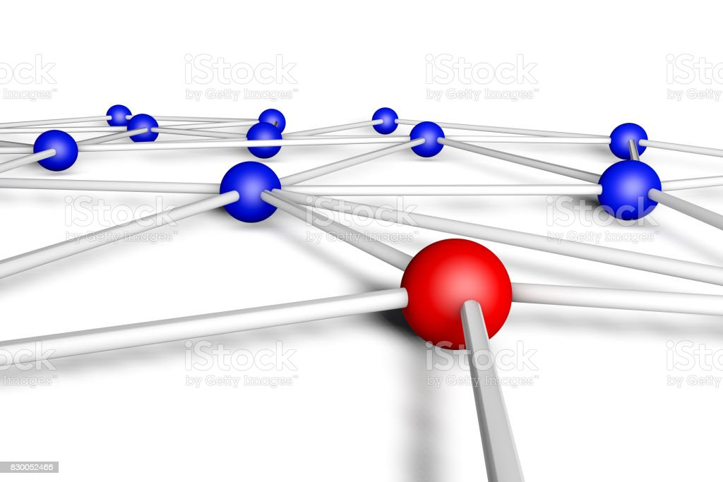 abstract network connection on white stock photo