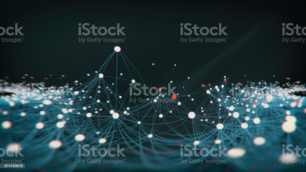 Abstract  network molecular block chain structure stock photo
