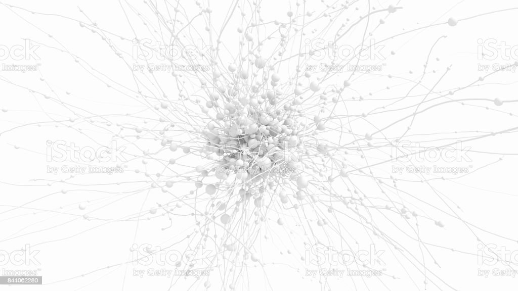 Abstract network on white stock photo