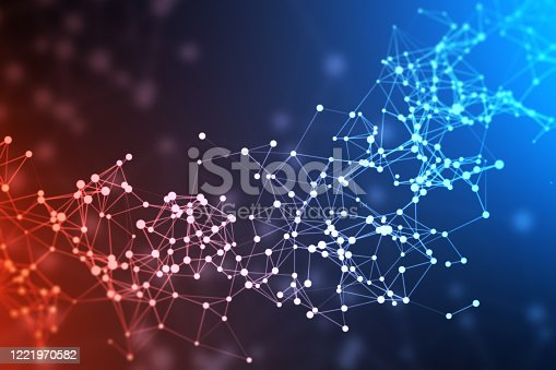 istock Abstract network or blockchain 1221970582