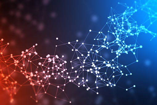 1146532466 istock photo Abstract network or blockchain 1221970582