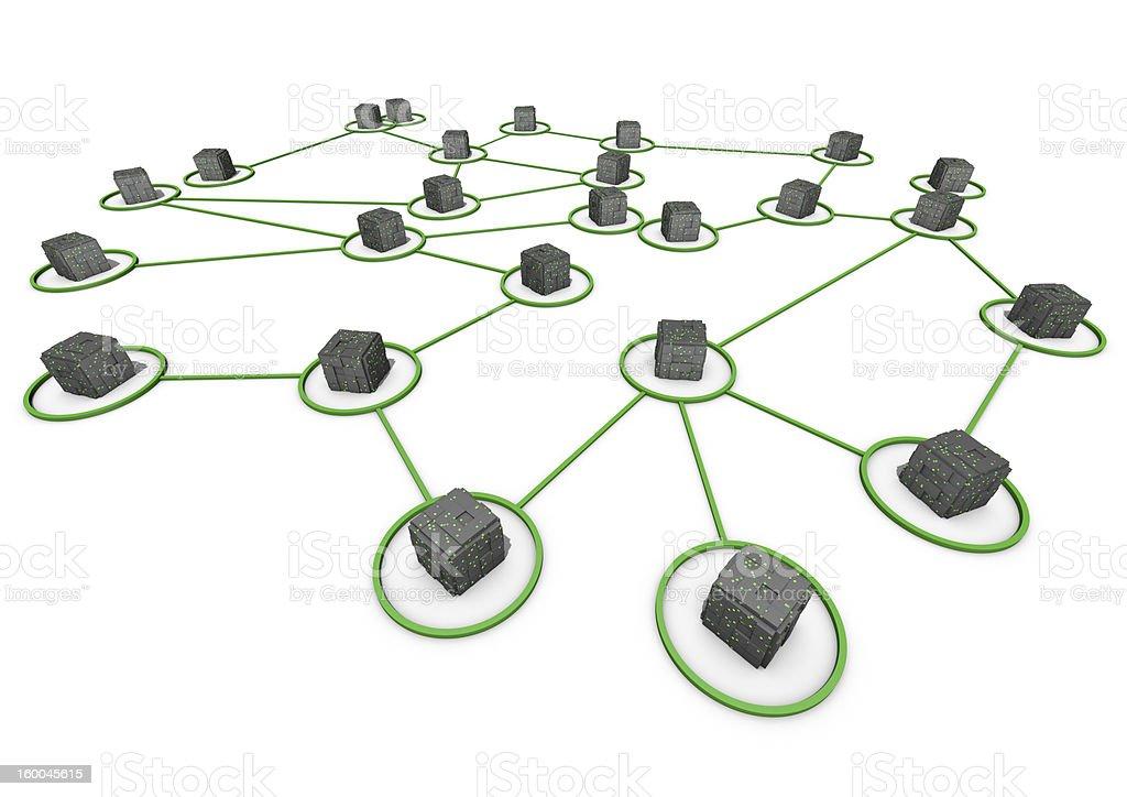 Abstrakte Netzwerk – Foto