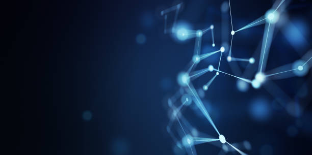 Abstract Network Technology Background stock photo