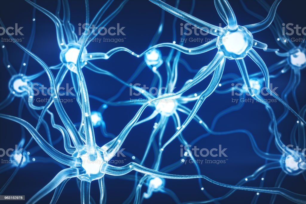 Abstract Neural Network stock photo