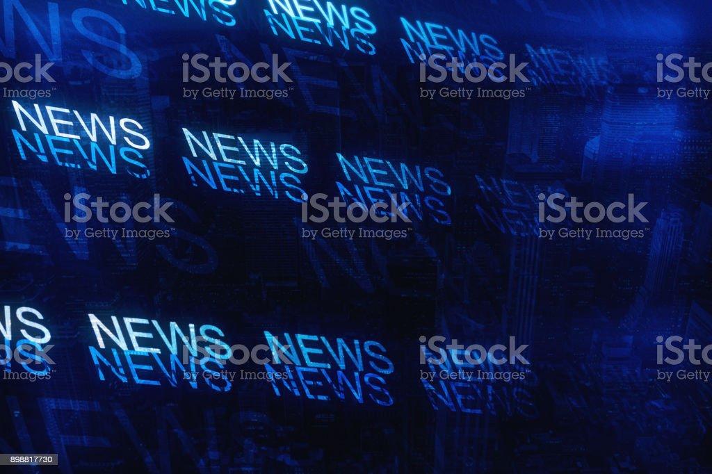 Abstrakte Nachrichten Hintergrund – Foto