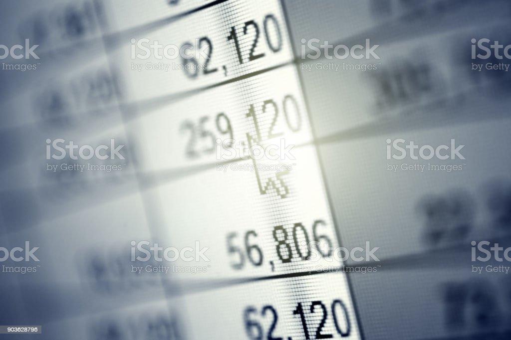 Abstrakten numerischen Daten – Foto