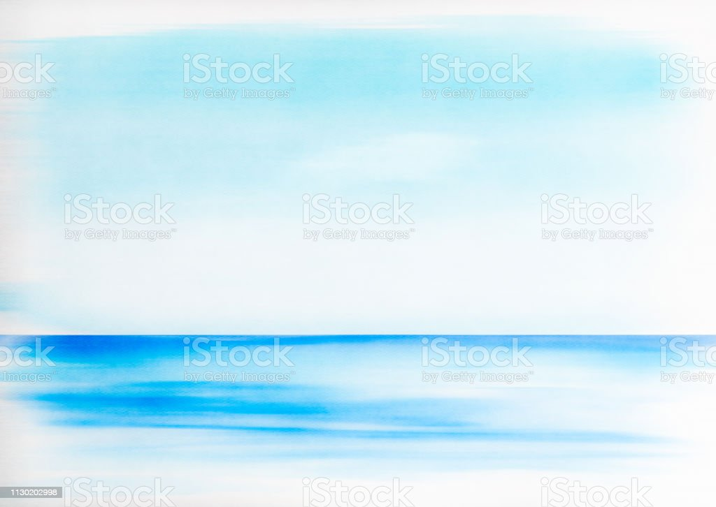 Abstract Ocean Painting in Watercolor stock photo