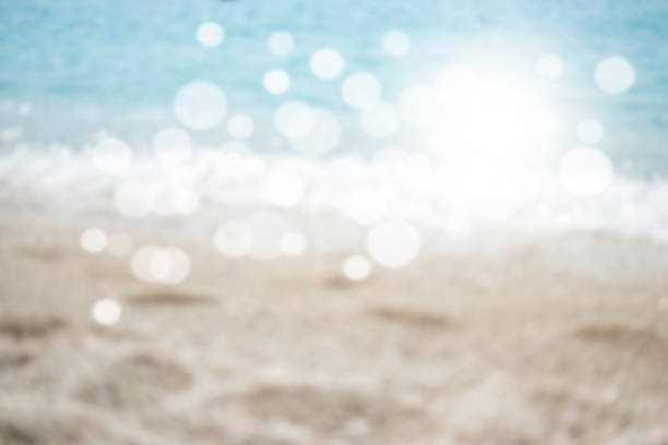 Abstract ocean seascape with blurred background stock photo