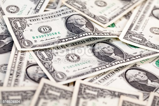 istock Abstract of American bill notes - Close-up 516929304
