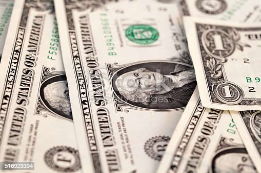 istock Abstract of American bill notes - Close-up 516929394