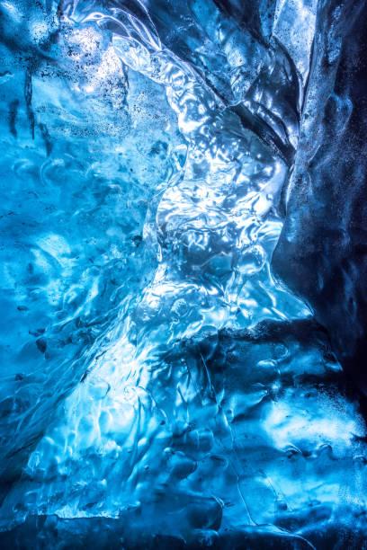 Auszug aus einem Eis Höhle Textur, Vatnajökull Gletscher, Island – Foto