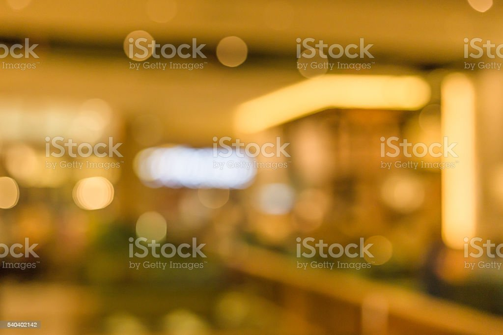 Abstract of blurred  in banquet hall stock photo