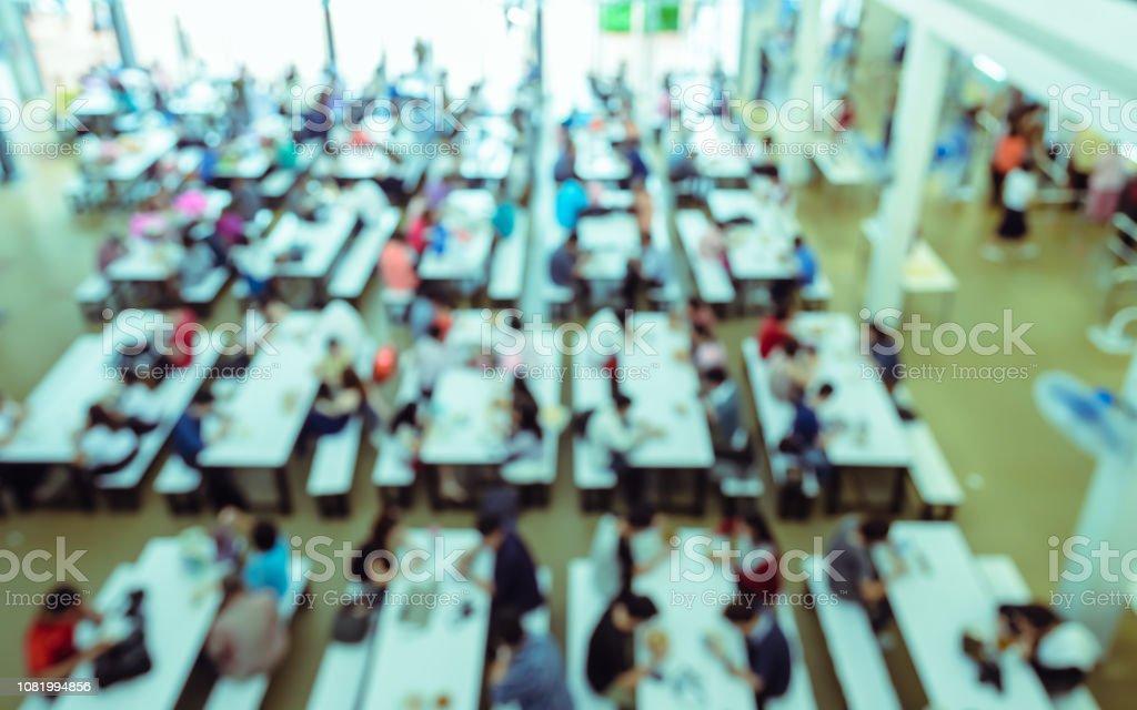Auszug aus unscharfen Menschen im Food-Court oder in der cafeteria – Foto