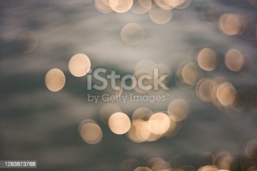 istock Abstract of bokeh light from water background. 1263873768