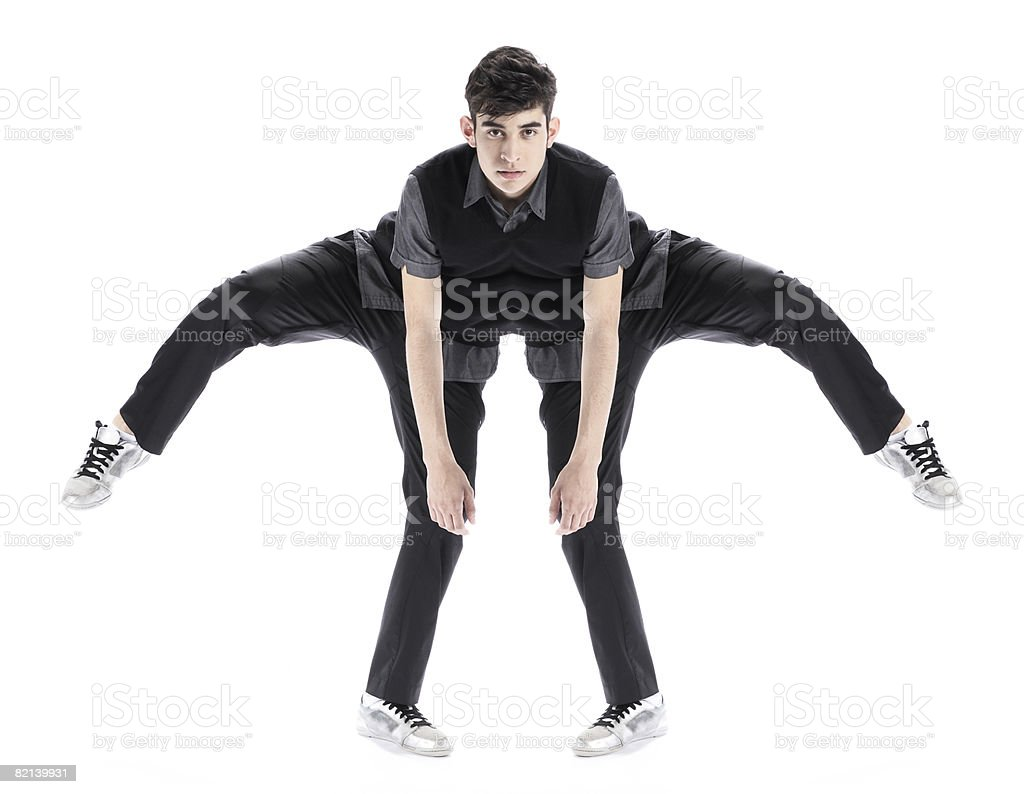 Abstract of Boy Stretching Digital Composite 18-19 Years Stock Photo
