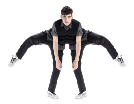 Abstract Of Boy Stretching Stock Photo - Download Image Now