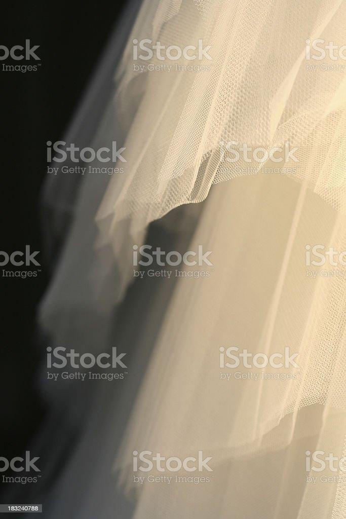 Abstract of bridal veil royalty-free stock photo