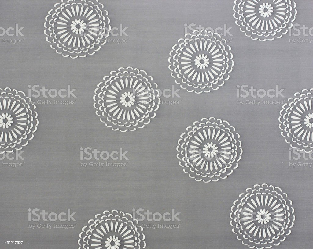 Abstract of circle pattern on textile royalty-free stock photo