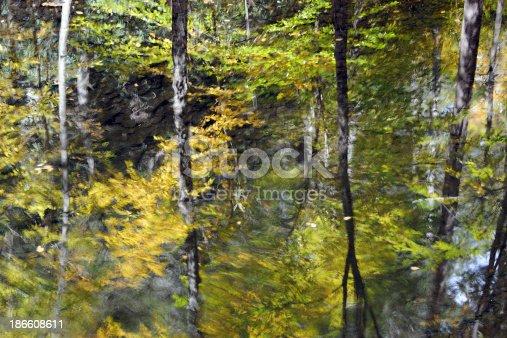Reflection in Dingmans Creek in Autumn, Delaware Water Gap National Recreation Area, Pennsylvania, USA