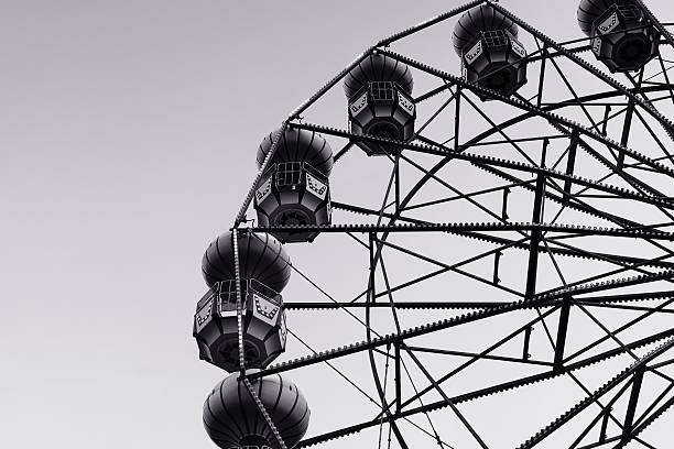 Abstract of ferris wheel stock photo