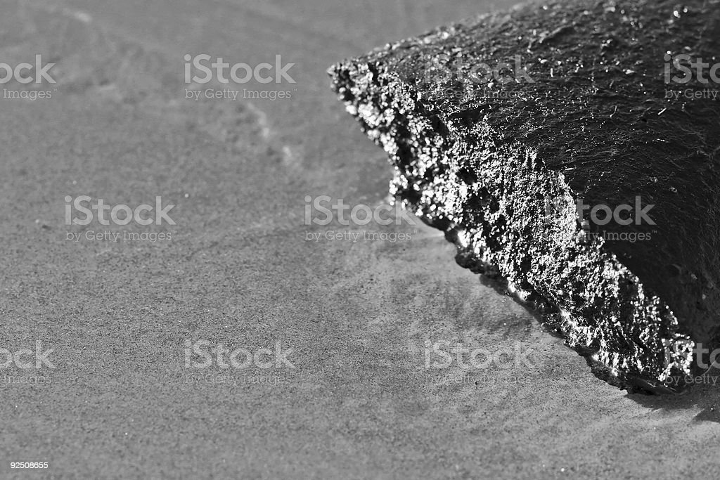 Abstract of Jagged Rock royalty-free stock photo