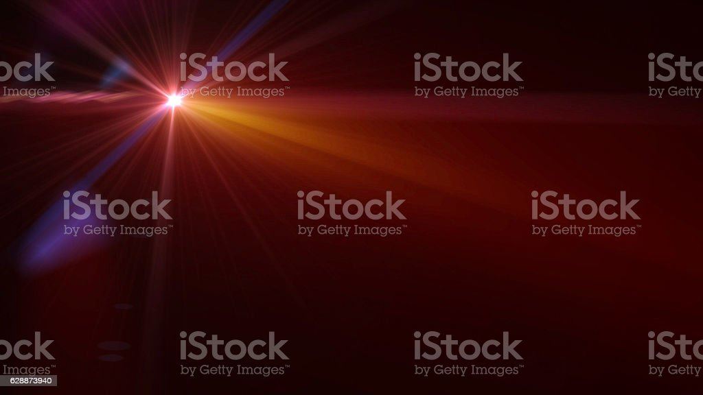 abstract of lighting  , digital lens flare in dark background stock photo