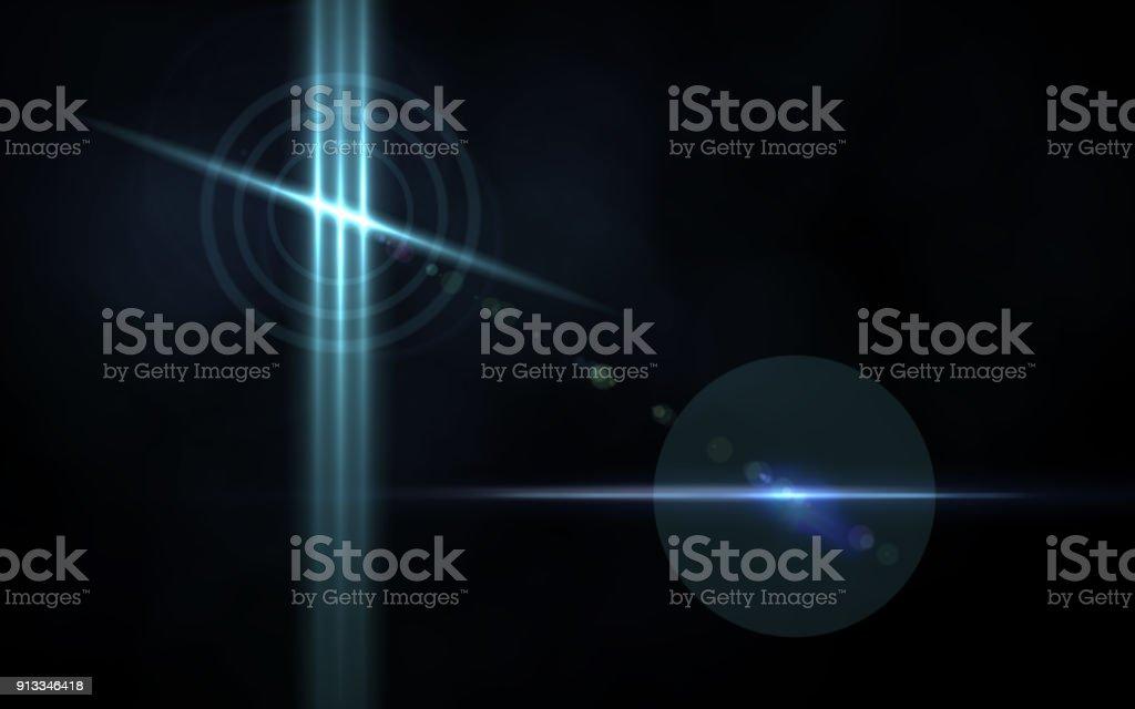 Zusammenfassung der Hintergrund-Beleuchtung. digitalen Reflexlicht in dunklem Hintergrund – Foto