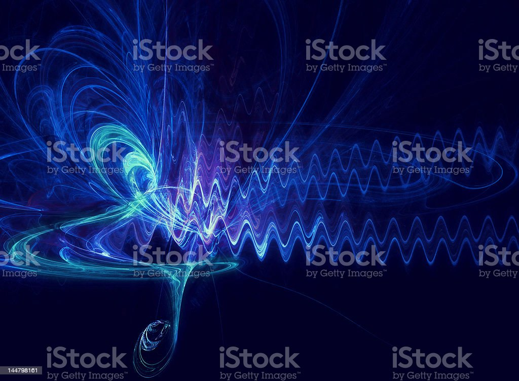 abstract of music symbol and soundwave stock photo