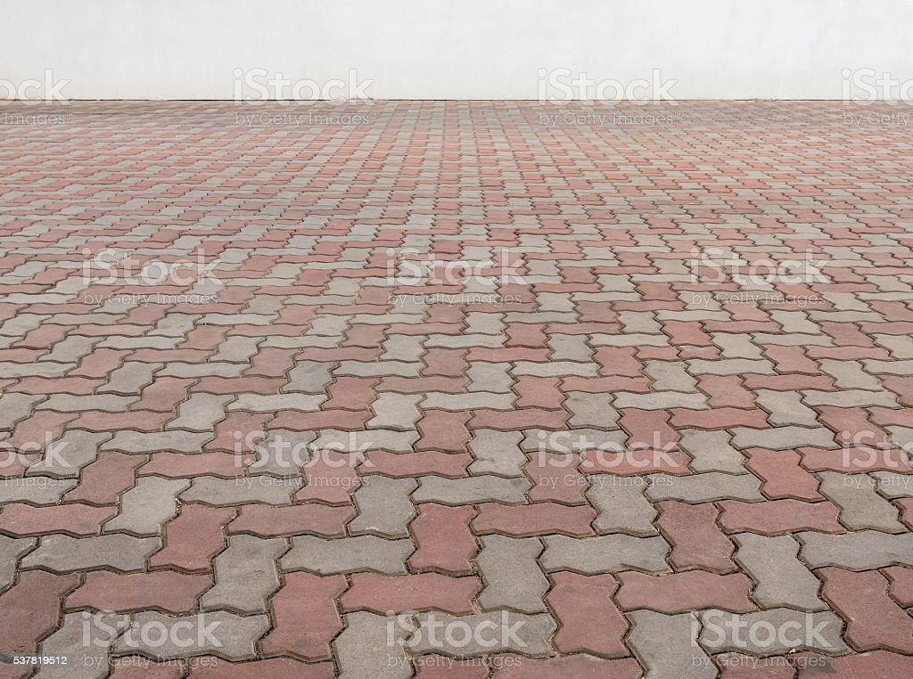 abstract of old floor brick stock photo