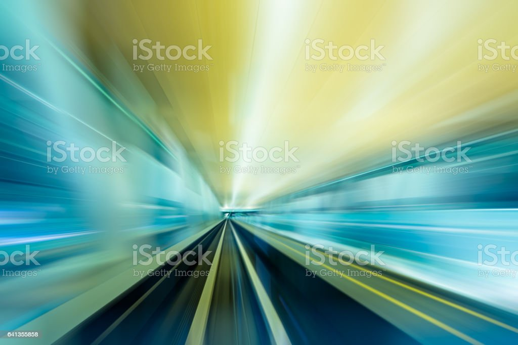 Abstract of Speed – Train in a modern City stock photo
