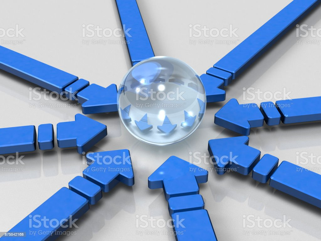Abstract of the image gathered in the center stock photo