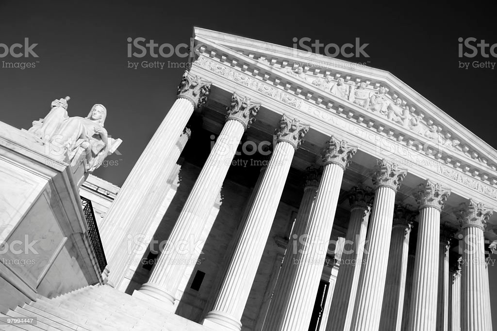 Abstract of U.S. Supreme Court royalty free stockfoto