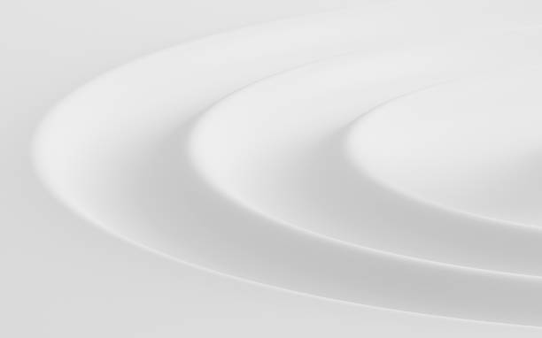 Abstract of water ripple shape, White background with free form of soft wave, 3D rendering Abstract of water ripple shape, White background with free form of soft wave, 3D rendering rippled stock pictures, royalty-free photos & images